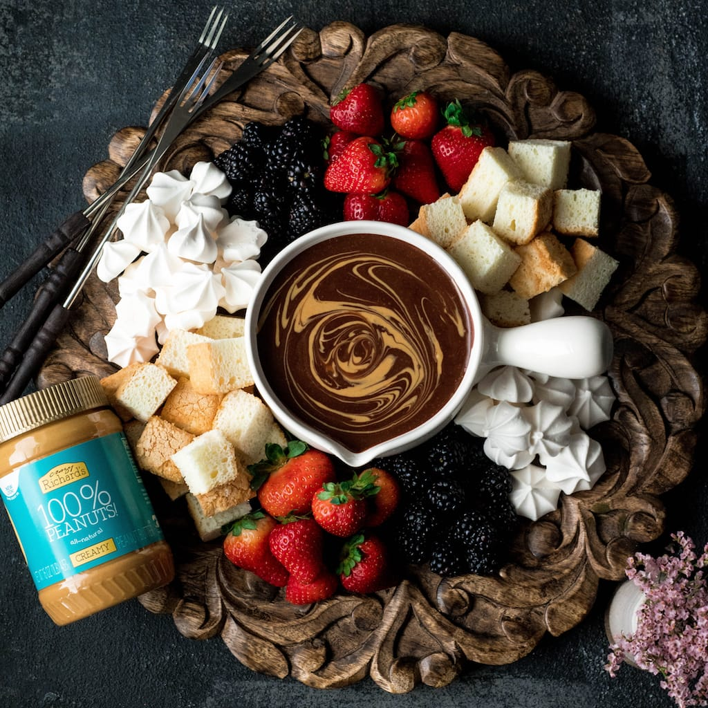 Easy Chocolate Peanut Butter Fondue Dairy Free