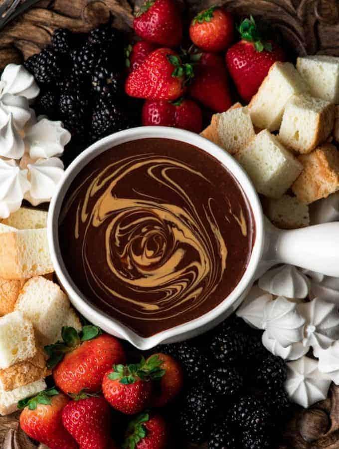 Dairy-Free Chocolate Peanut Butter Fondue