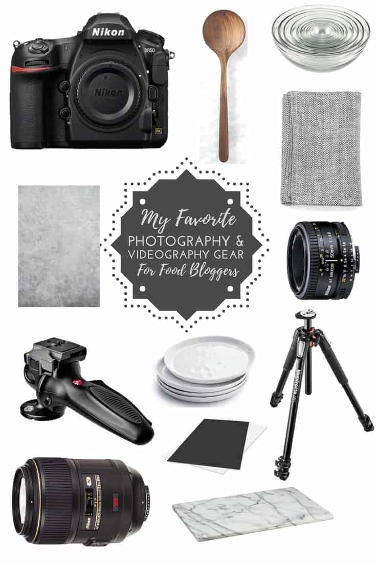 Food Photography Essentials! Must-haves to take great food photos and videos! #foodphotography #photography #nikon #gear #foodblogger