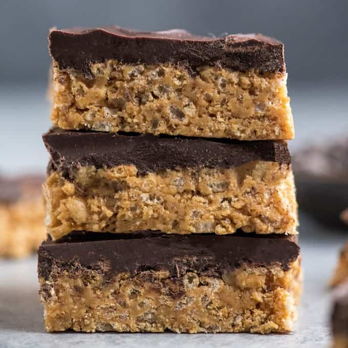 Healthy Peanut Butter Rice Crispy Treats - JoyFoodSunshine