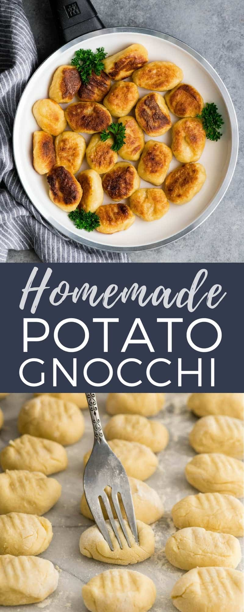 This Homemade Potato Gnocchi Recipe is made with only 5 ingredients and is SO much better than store bought varieties! Seriously we only ever eat homemade gnocchi! This version has cheddar cheese in the dough, setting it apart from all the others! It's freezer friendly and beloved by kids and adults! #gnocchi #recipe #homemade #potatognocchi #fromscratch #healthyrecipe
