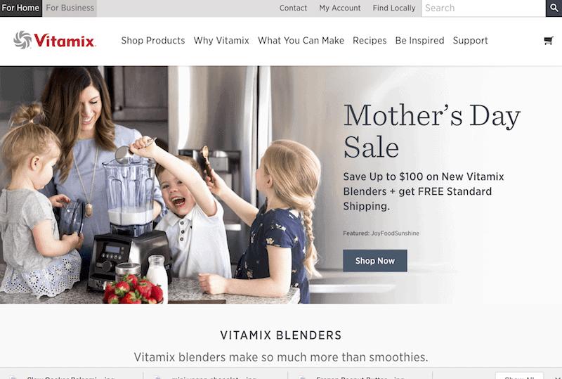 Moments 04.2018 JoyFoodSunshine Vitamix Homepage Mother's Day