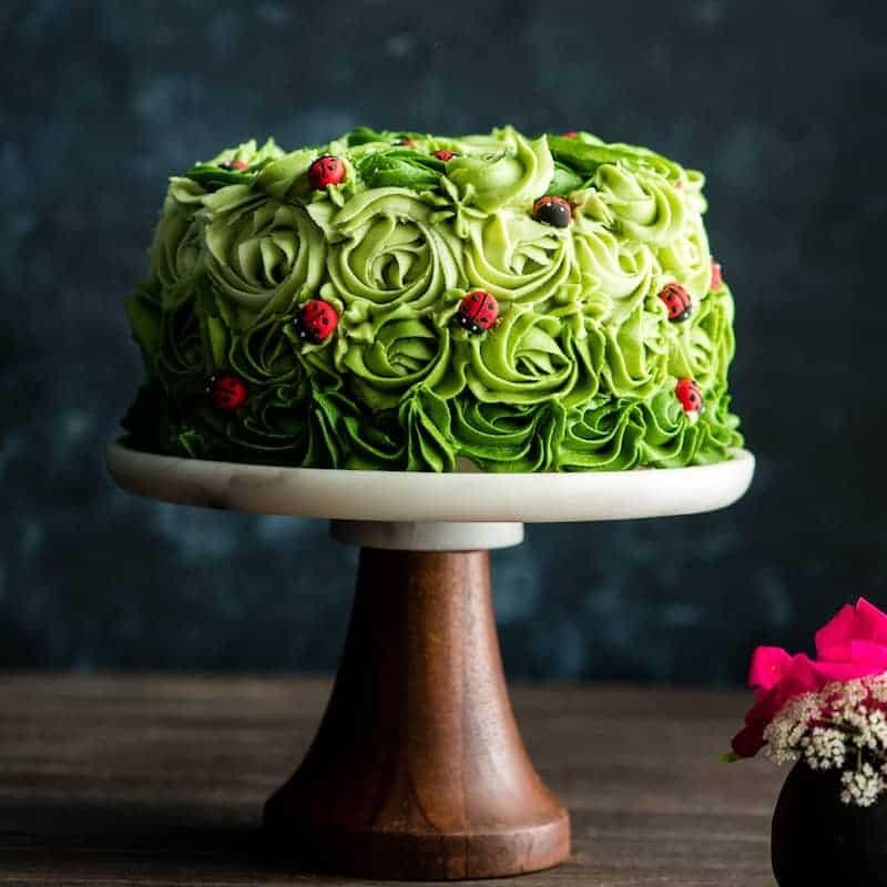 Adorable flower ladybug cake!