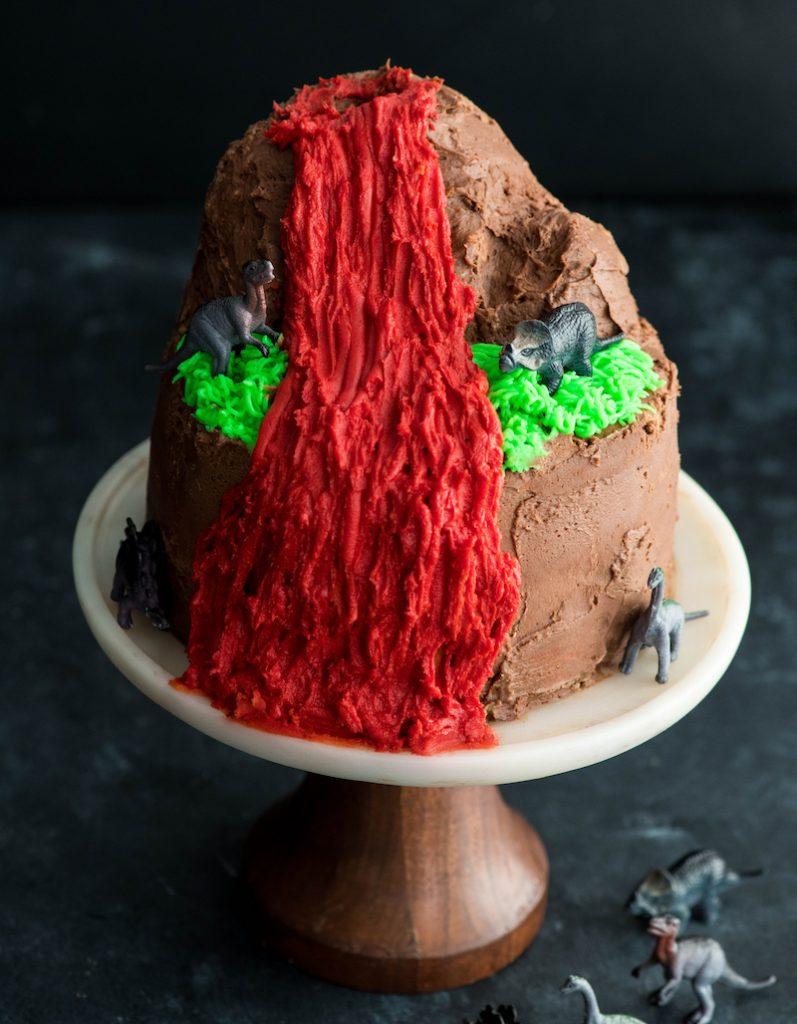 Dinosaur Cake, volcano cake