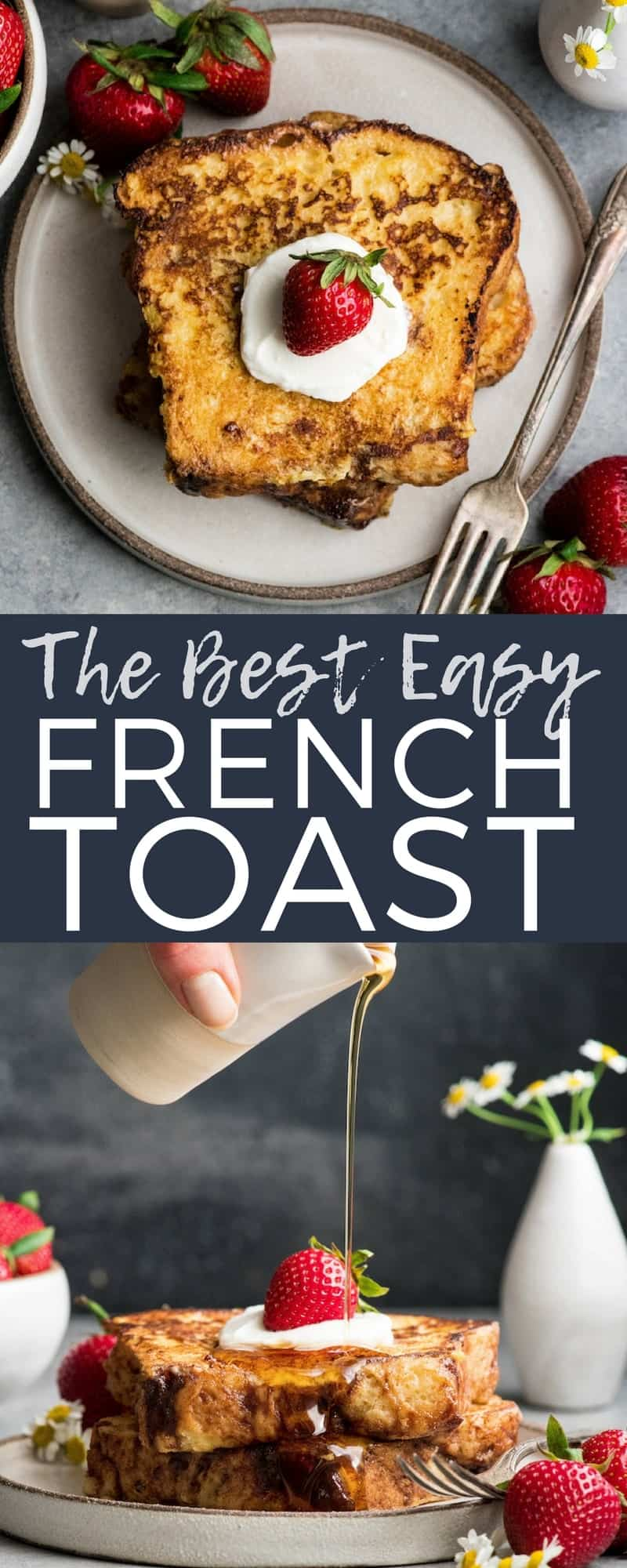 This is the best Easy French Toast Recipe ever! It's ready in 20 minutes and is one of our family's favorite breakfasts! #frenchtoast #classic #easy #kneaders #breakfast #recipe