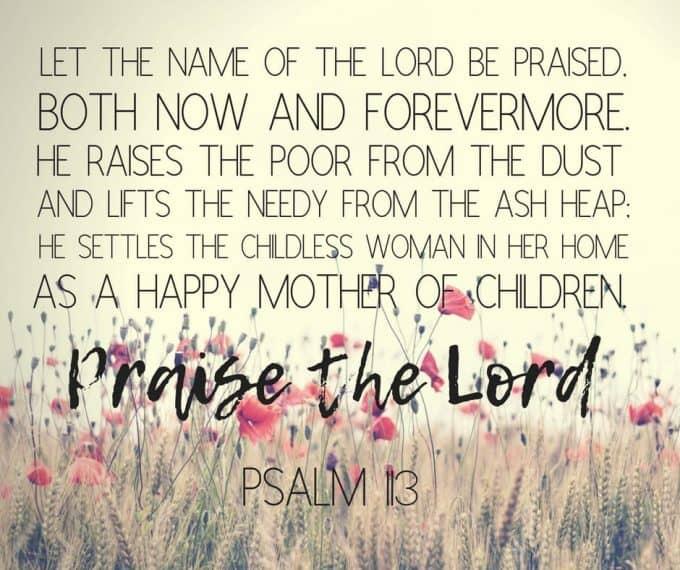 cherish motherhood paslm 113