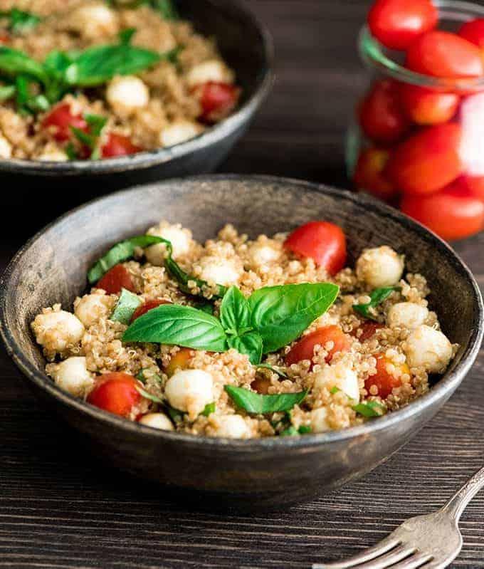 Balsamic Caprese Quinoa Salad