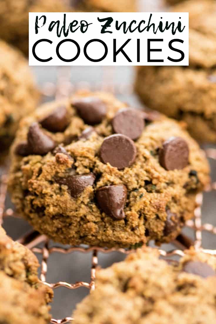 Paleo Zucchini Cookies are a healthy and nutritious recipe loaded with sneaky veggies that tastes like dessert but can be served for breakfast! They're gluten-free, grain-free, dairy-free, paleo AND are ready in 20 minutes!  #glutenfree #grainfree #dairyfree #breakfast #cookies #zucchini #paleo #healthybreakfast #healthyrecipe