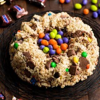 Candy Stuffed Rice Crispy Cake