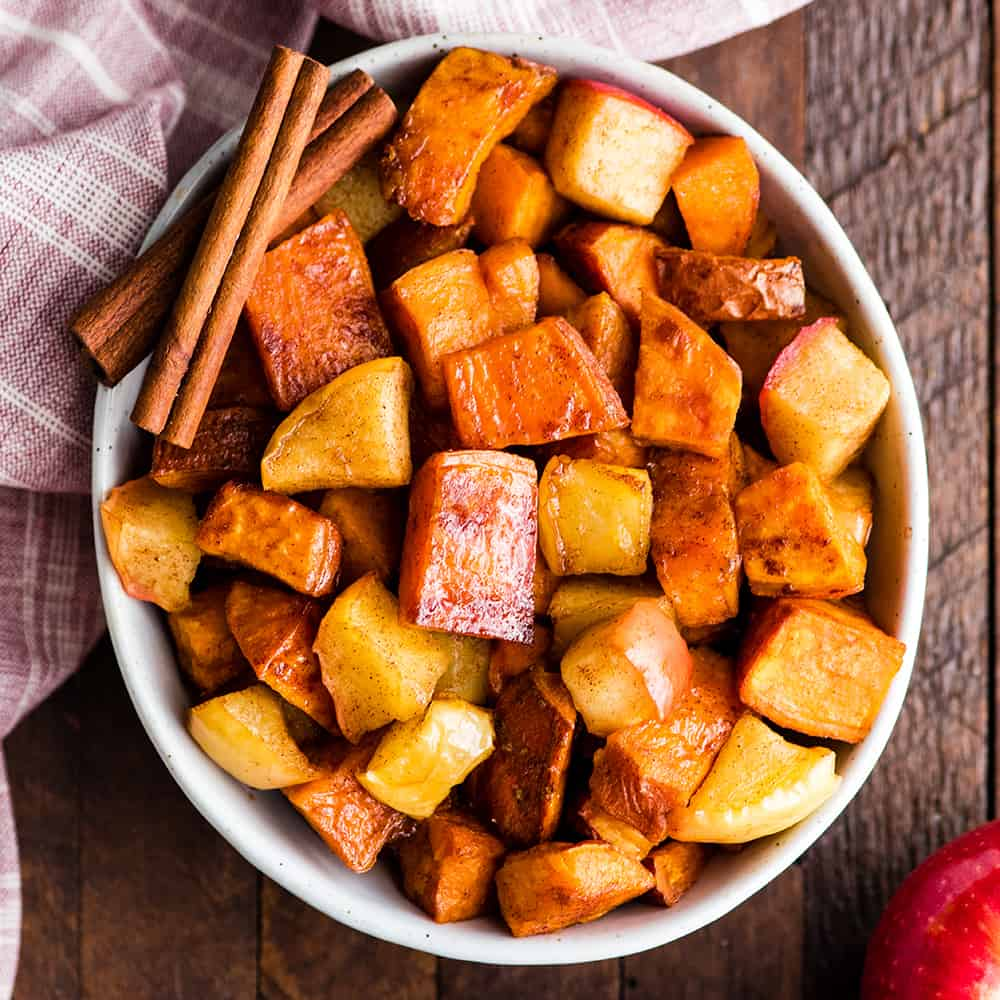 Cinnamon Roasted Sweet Potatoes And Apples Joyfoodsunshine
