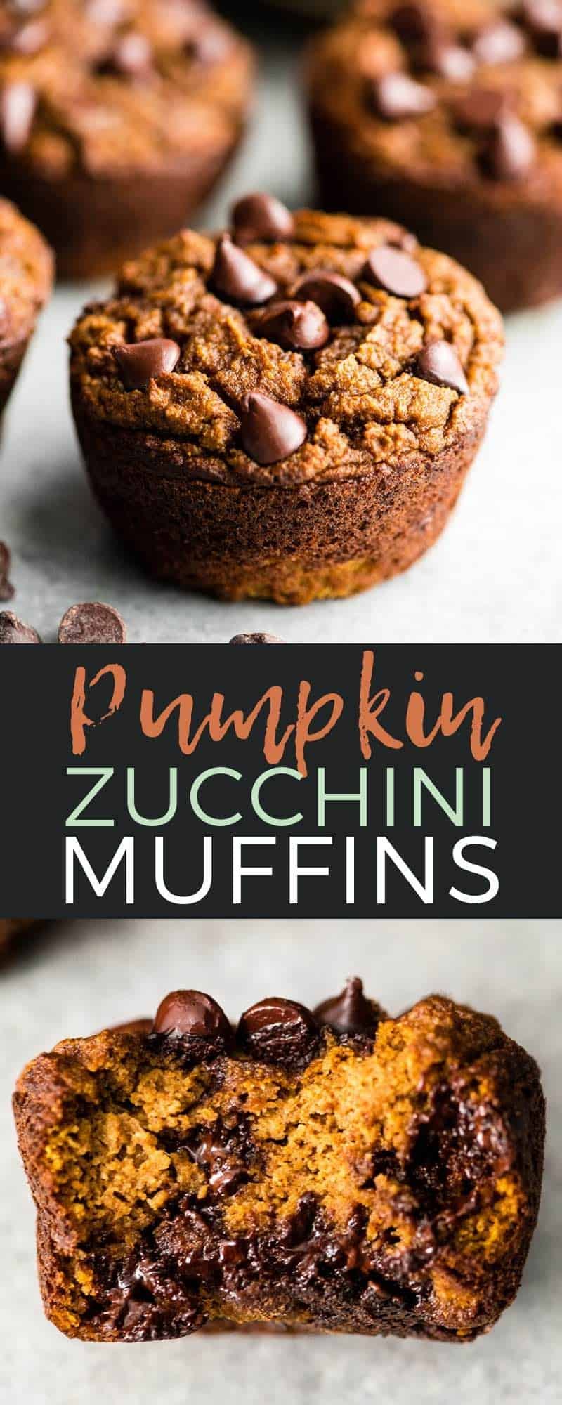 This Paleo Pumpkin Zucchini Muffins Recipe is a healthy breakfast that's easy to make! These muffins are gluten-free, dairy-free and can easily be made into healthy pumpkin zucchini bread! #paleo #glutenfree #dairyfree #zucchini #pumpkin #muffins #healthy