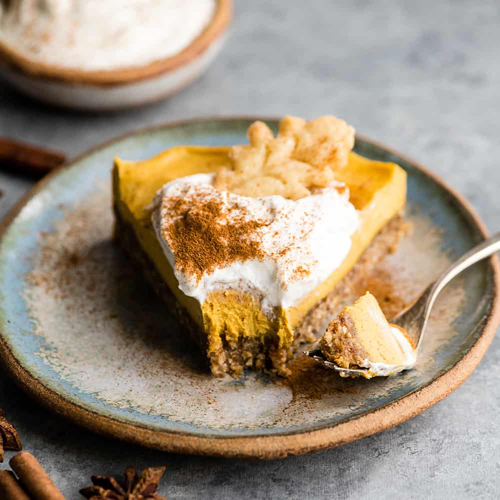 No Bake Vegan Pumpkin Cheesecake Paleo Joyfoodsunshine