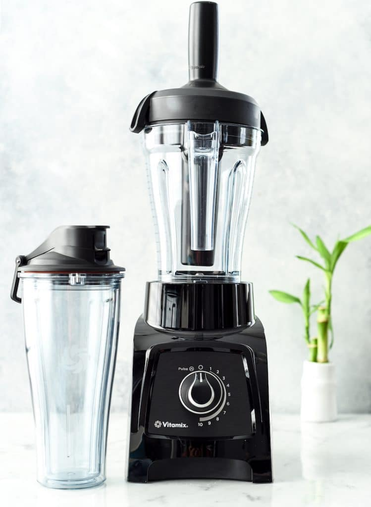 Front view of a black Vitamix S-30 blender in this post answering the question Which Vitamix is the Best? (Vitamix Comparison & Buying Guide)