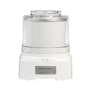 Front view of an ice cream maker, part of the list of Best Kitchen Gifts (for the Hostess, Chef or Foodie)