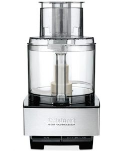 Front view of a food processor, part of the list of Best Kitchen Gifts (for the Hostess, Chef or Foodie)