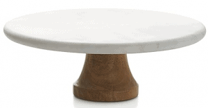 Front view of a cake stand, part of the list of Best Kitchen Gifts (for the Hostess, Chef or Foodie)