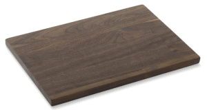 Front view of a walnut cutting board, part of the list of Best Kitchen Gifts (for the Hostess, Chef or Foodie)