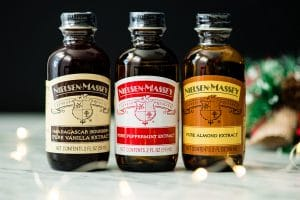Front view of the Nielsen-Massey Holiday Flavors Bundle in this kitchen gift's guide