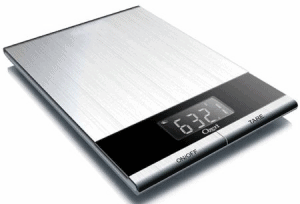 Front view of a food scale, part of the list of Best Kitchen Gifts (for the Hostess, Chef or Foodie)