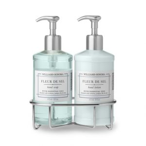 Front view of a set of hand soap and lotion, part of the list of Best Kitchen Gifts (for the Hostess, Chef or Foodie)