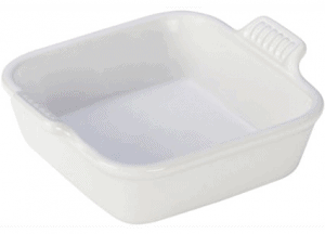 Front view of a small baking dish, part of the list of Best Kitchen Gifts (for the Hostess, Chef or Foodie)