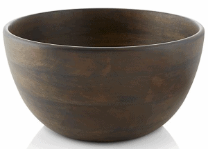 Front view of a wooden salad bowl, part of the list of Best Kitchen Gifts (for the Hostess, Chef or Foodie)