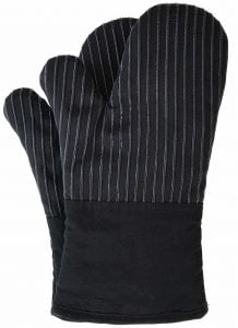 black oven mitts