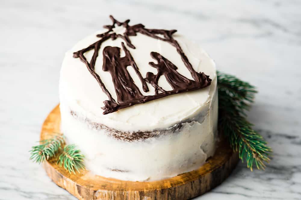 Admirable Nativity Cake Birthday Cake For Jesus Joyfoodsunshine Birthday Cards Printable Benkemecafe Filternl
