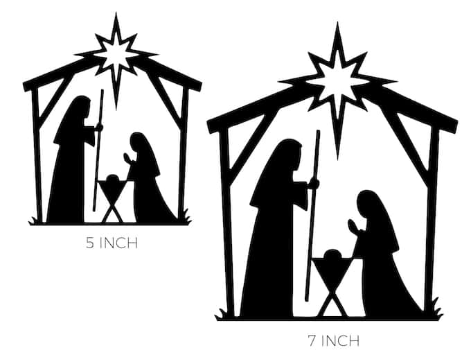 Nativity Cake topper printable (Birthday Cake for Jesus)