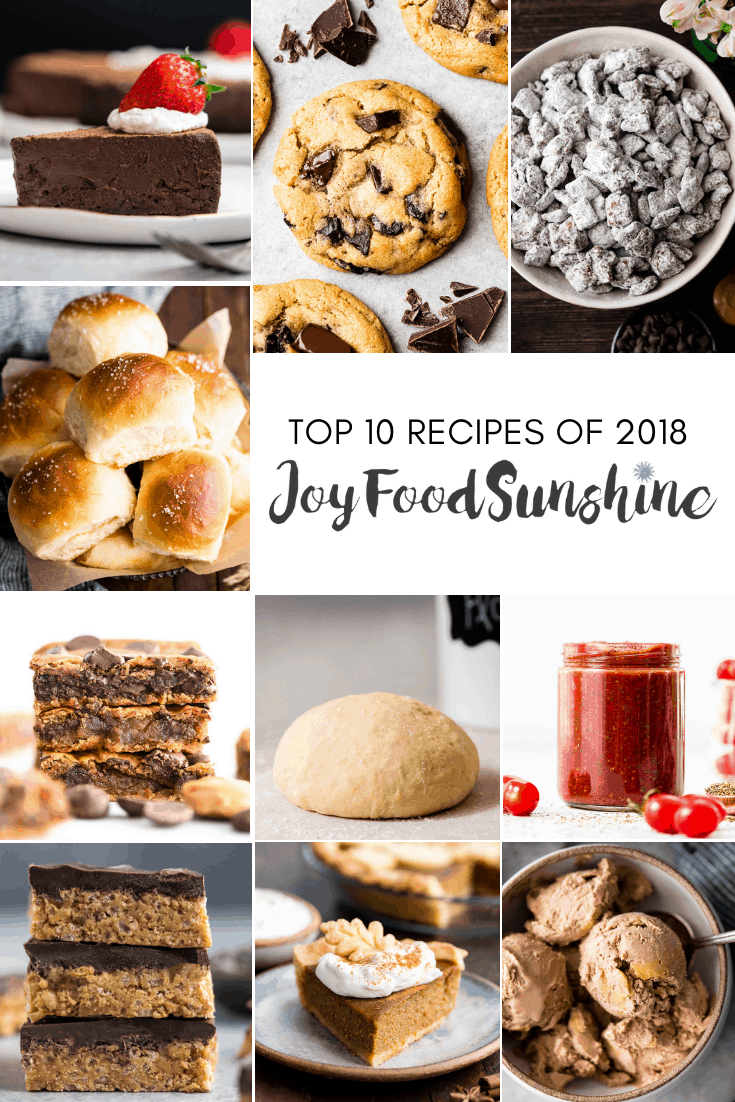 Here are the Top 10 Recipes of 2018 from JoyFoodSunshine! You will want to make all of these easy & delicious recipes! #recipes #joyfoodsunshine #top10recipes #2018