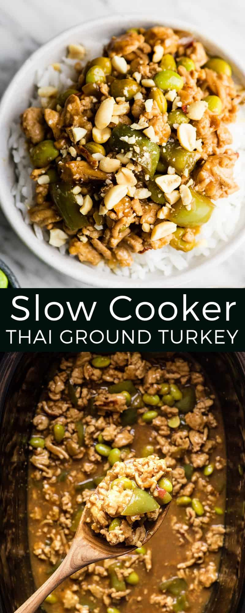 Healthy Thai Slow-Cooker Ground Turkey Recipe is an easy main dish! It only takes 10 minutes to prepare, plus it's gluten-free and dairy-free! #slowcooker #crockpot #groundturkey #thai #coconutmilk #glutenfree #dairyfree #healthyrecipe #easydinner