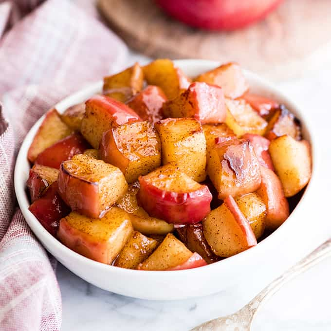 A bowl of Cinnamon Apples