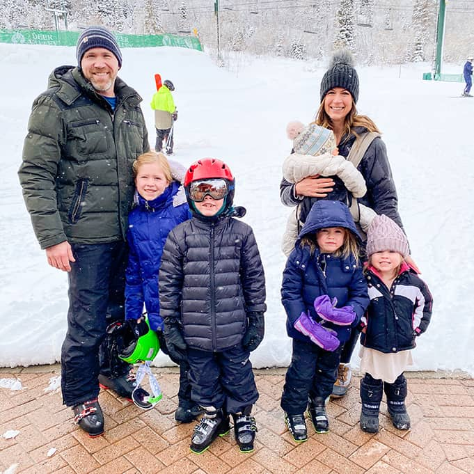 family skiing at Deer Valley Resort