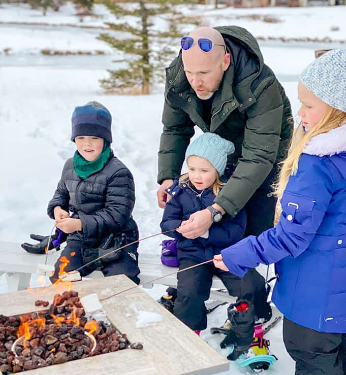 family roasted s'mores at Deer Valley Resort