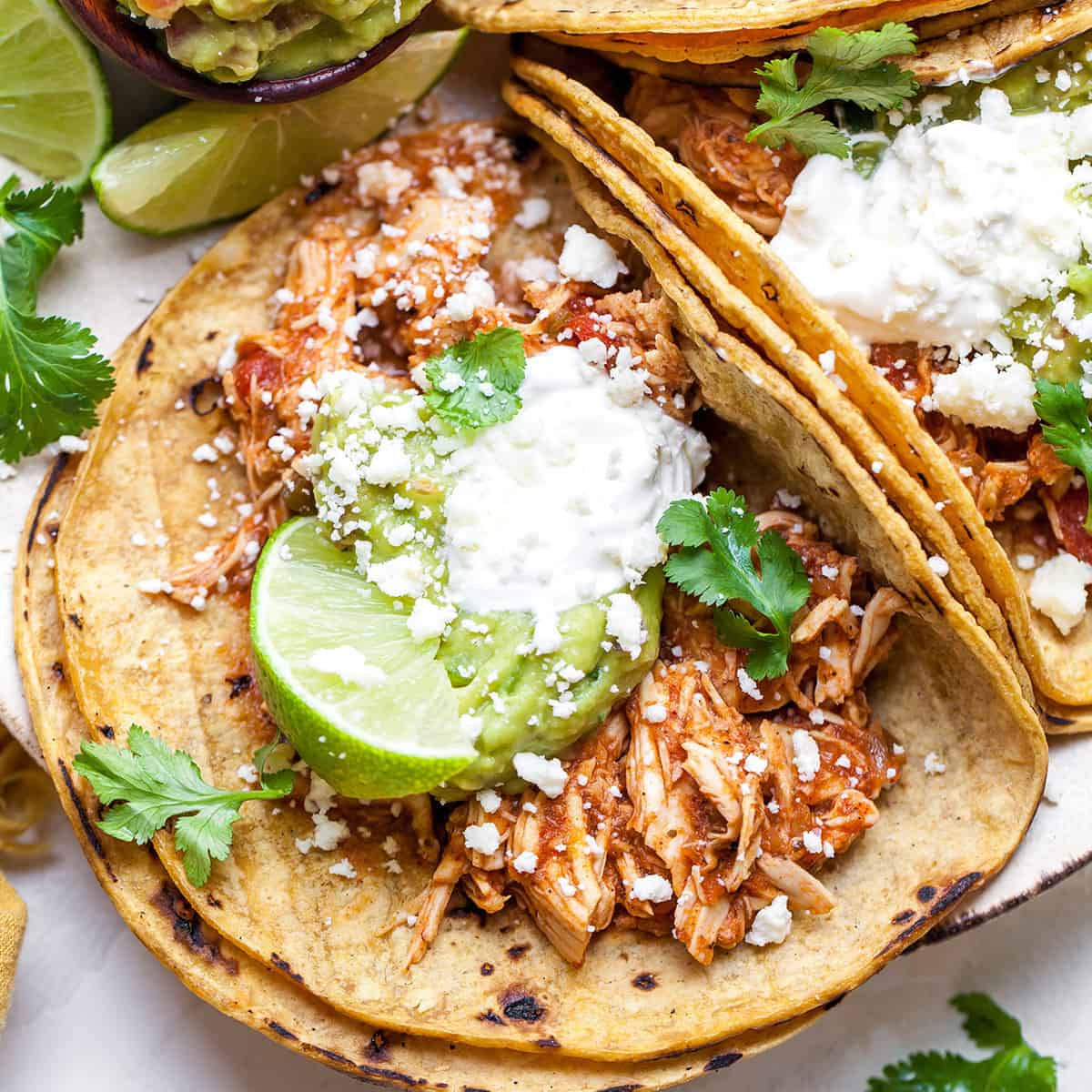 Crockpot Chicken Tacos Mexican Chicken Joyfoodsunshine