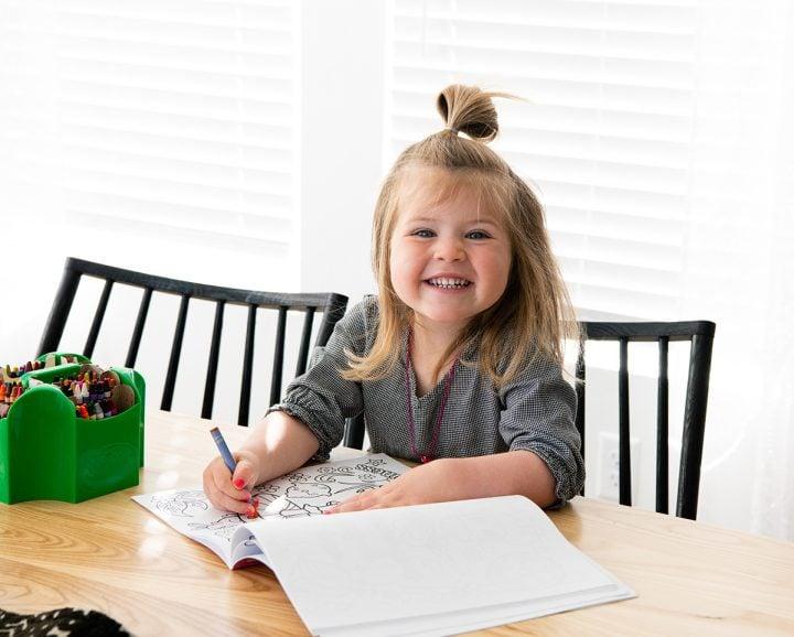coloring during homeschool schedule