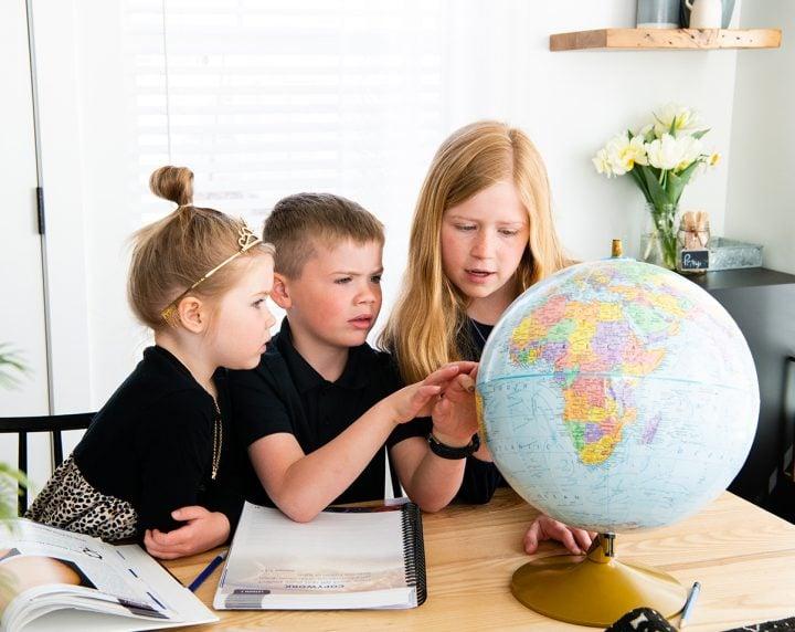 3 kids homeschooling