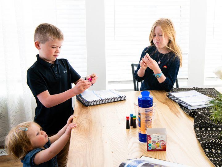 science experiment during homeschool schedule