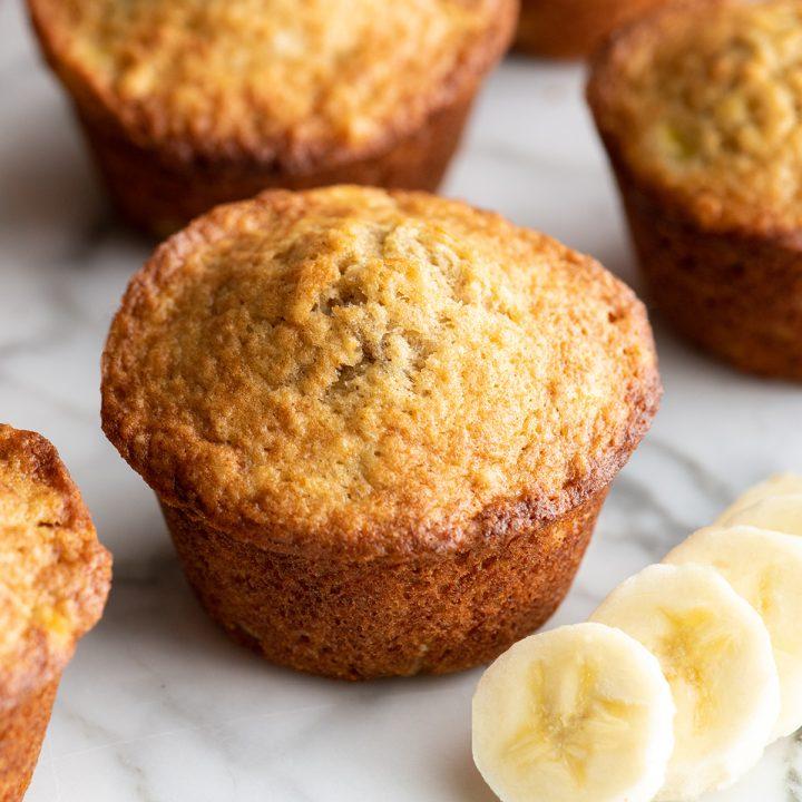 3 banana muffins