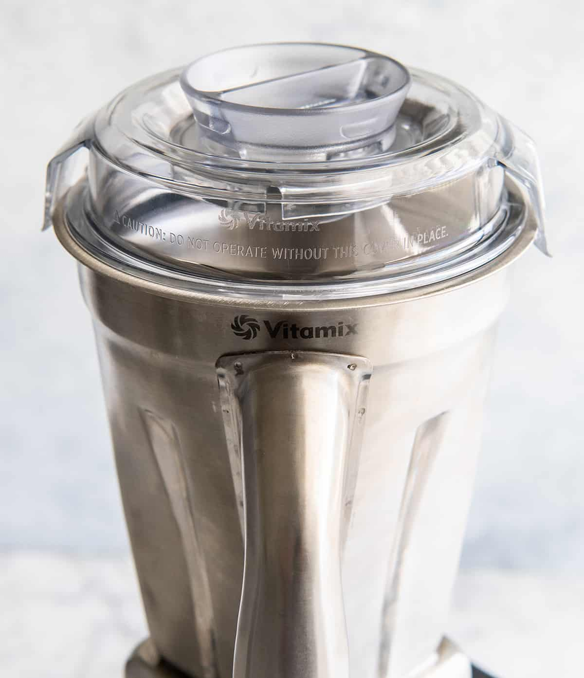 Handle view of the Vitamix Stainless Steel Container