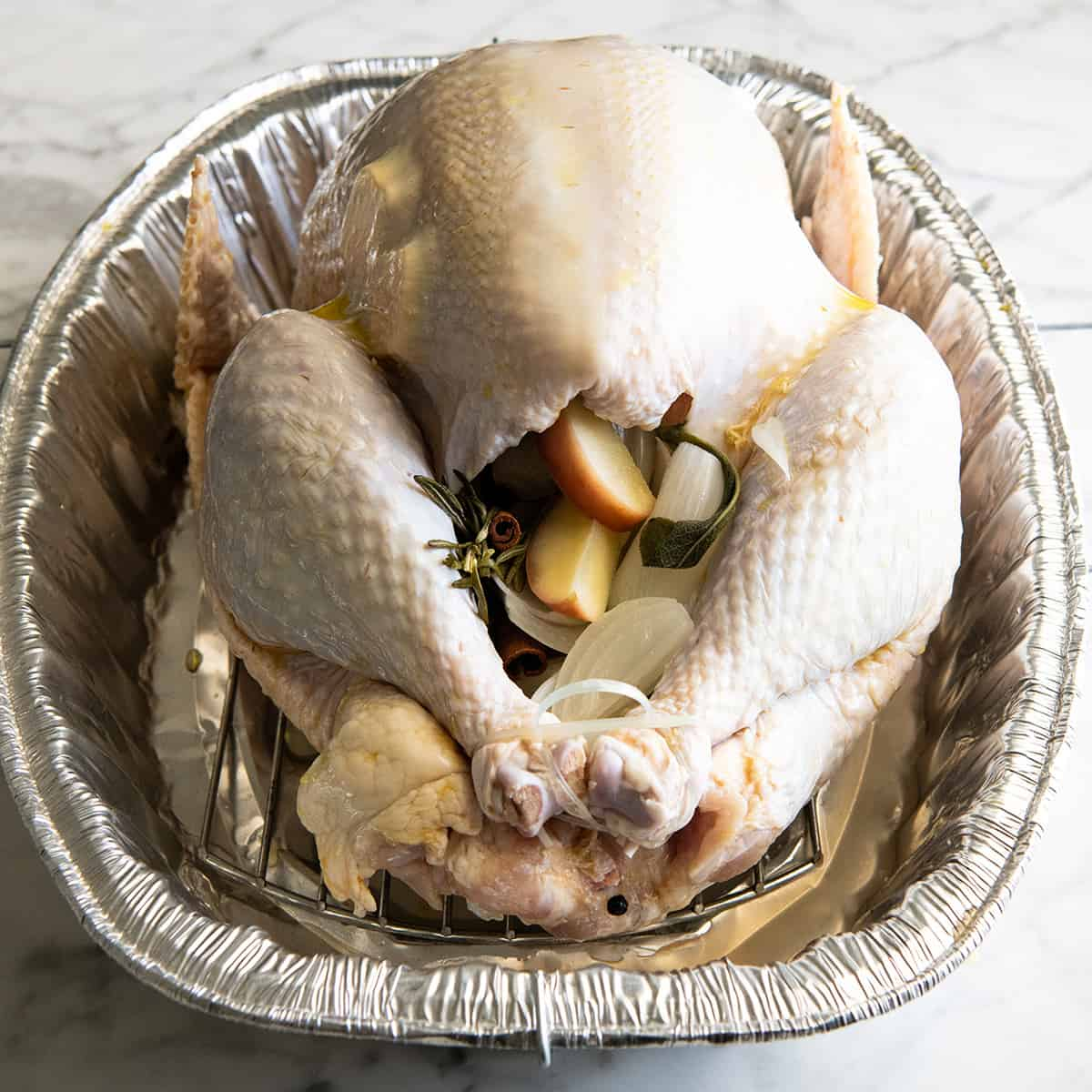 front view photo showing how to cook a turkey