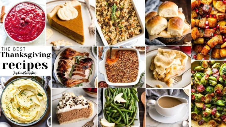 collage of photos of the Best Thanksgiving Recipes