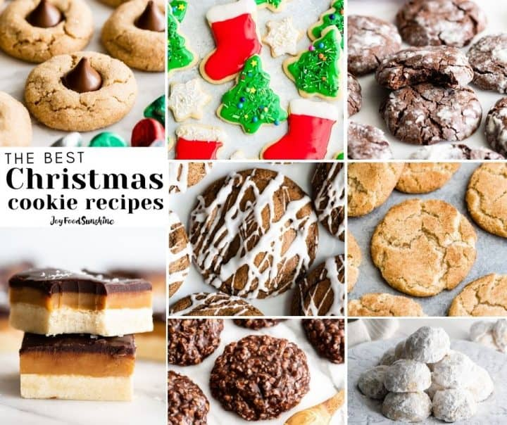 photo collage of Christmas cookies