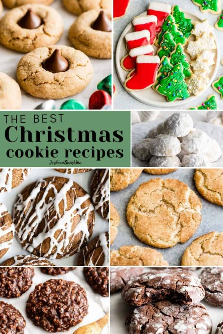 collage of Christmas cookie recipes