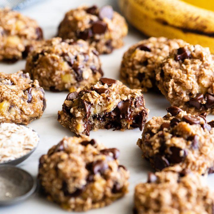 front photo of 9 Banana Oatmeal Cookies