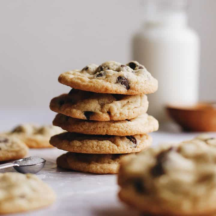 stack of 5 Gluten Free Chocolate Chip Cookies