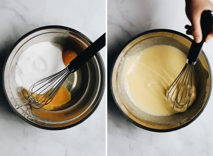 two overhead photos showing How to Make Lemon Bars