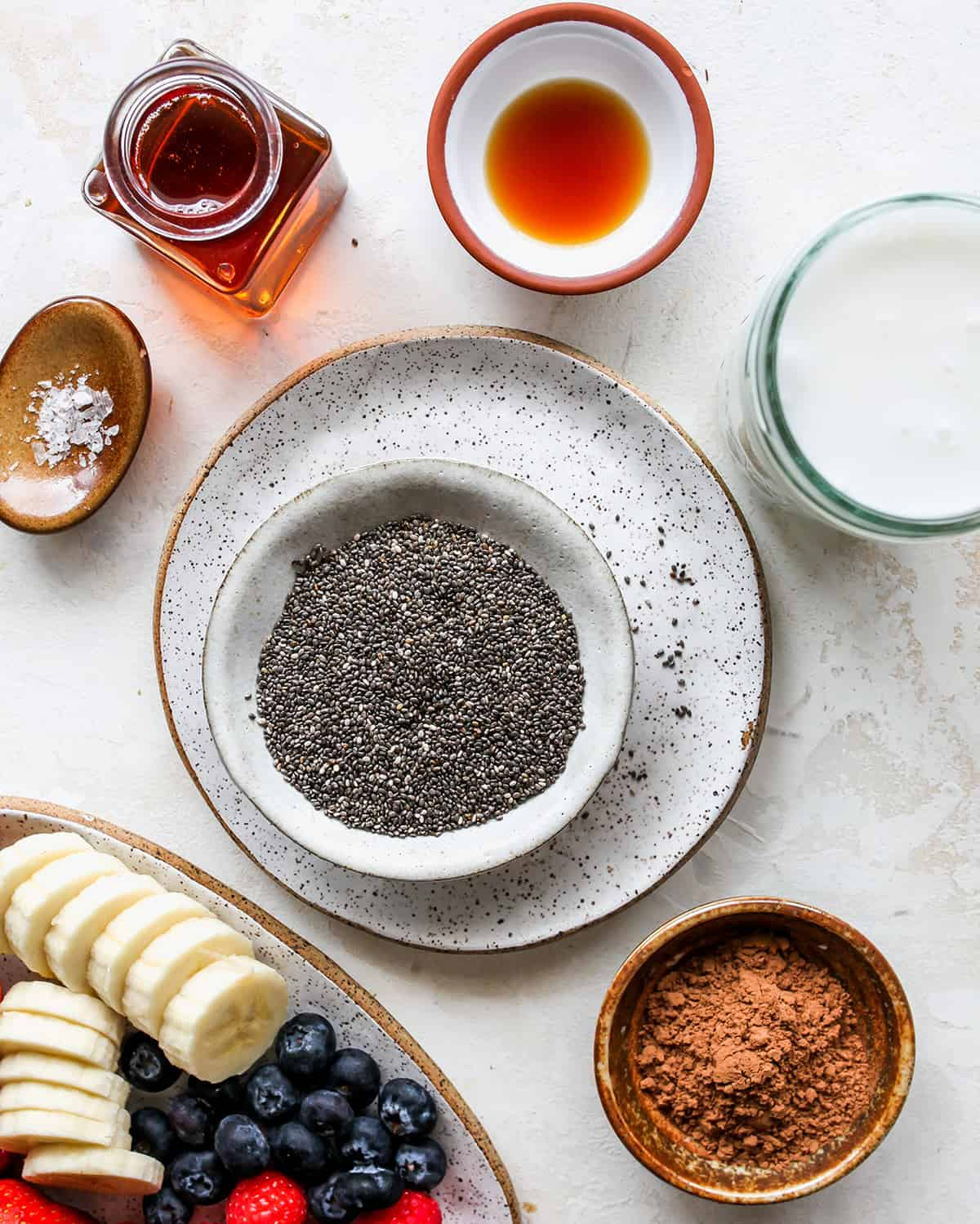 ingredients in this Chocolate Chia Pudding Recipe