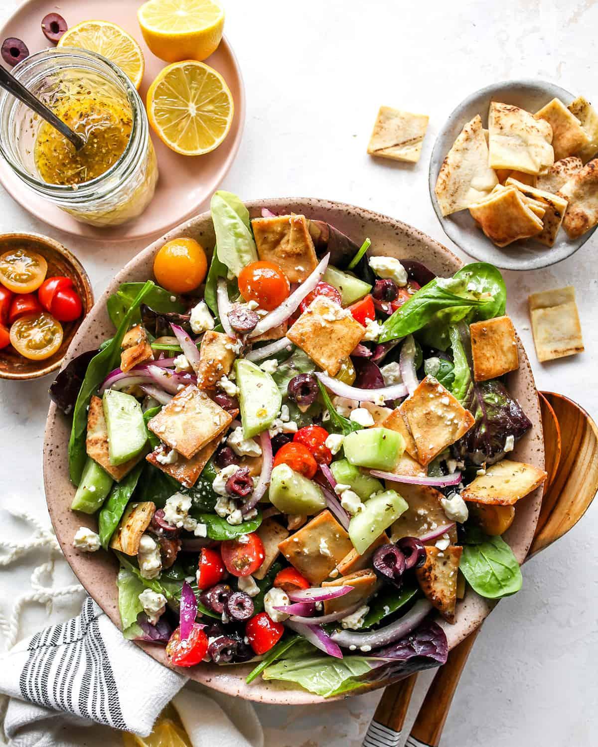 Greek Salad Dressing on a Greek salad