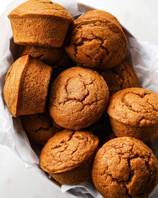 7 Pumpkin Muffins in a serving dish